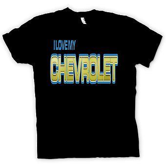 Mens T-shirt - I Love My Chevrolet - Car Enthusiast