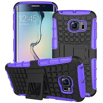 Hybrid Case 2teilig Robot Purple for Samsung Galaxy S6 Edge G925 G925F