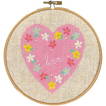 Love On Aida Counted Cross Stitch Kit-5.8