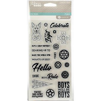 2 Cool For School Clear Stamps-