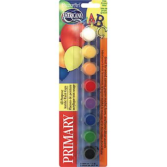 Americana All-Purpose Acrylic Paint Pots 8/Pkg-Primary