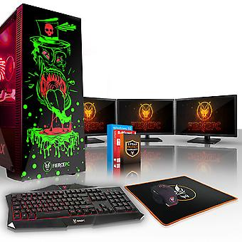Felle GOBBLER Gaming PC, snelle Intel Core i5 8500 4.1 GHz, 1 TB HDD, 16 GB RAM, GTX 1070 8 GB