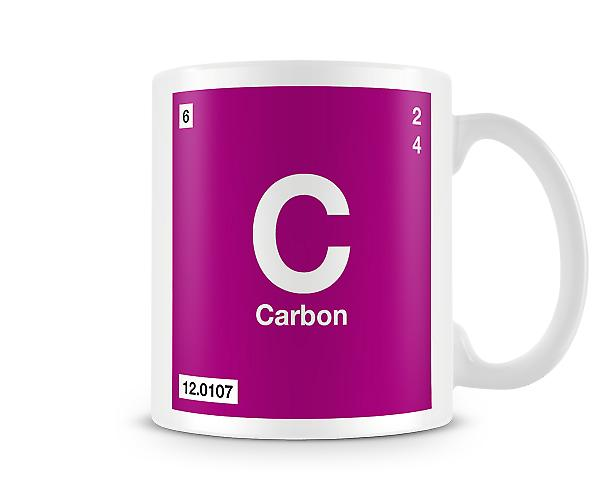 Element Symbol 005 C - Carbon Printed Mug