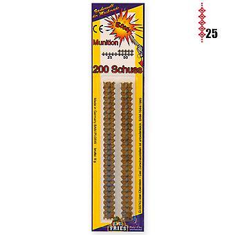 25 strips ammunition blister toy gun rifle