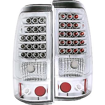 Anzo USA 311008 Chevrolet Silverado Chrom LED Tail Light Assembly - (paarweise)