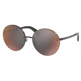 Chanel Chanel Ex-Display Ladies Runway Round Rimless Sunglasses With Burgundy Mirror Lenses