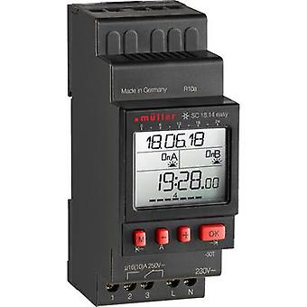 Müller SC 18.14 fácil NFC DIN rail montaje temporizador digital 230 V 16 A/250 V
