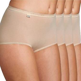 Sloggi Women Basic 4 Pack Maxi Brief, Skin, Size 12