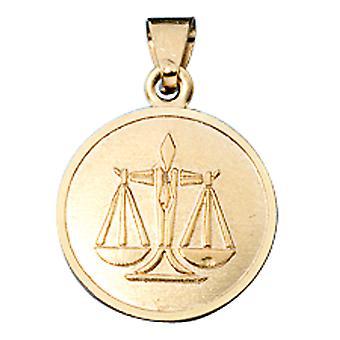 Signe astrologique pendentif or Libra 333 or jaune Cupidon
