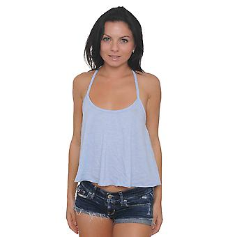 Women's Tank Top Open Back Flounce Waist