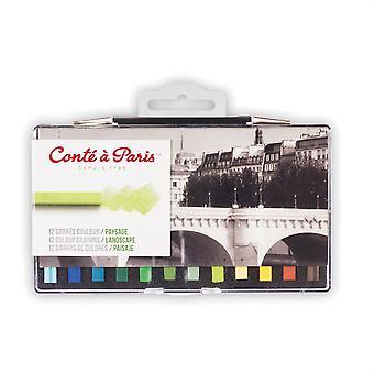 Conte Paris Künstler Farbe Buntstifte 12 Farben der Landschaft