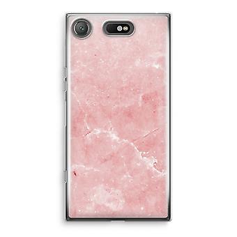 سوني إريكسون XZ1 ضغط الحالة شفاف (ناعمة)-الرخام الوردي