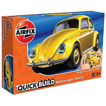 Airfix Quick Build VW Beetle Model Vehicle Toy, Yellow