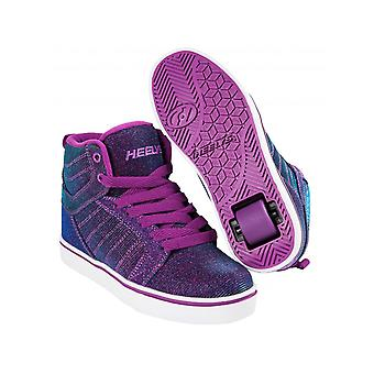 Heelys Purple-Aqua Colourshift Uptown Girls One Wheel Hi Top Shoe