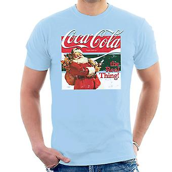 Coca Cola The Real Thing Christmas Men's T-Shirt