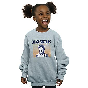 David Bowie jenter oransje striper Sweatshirt