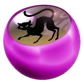 Piercing Ball rosa Ersatz, Körper Schmuck, schwarze Katze | 1,6 x 5 und 6 mm