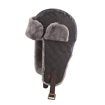 Jack Murphy Mens Hurricane Fly Trapper Winter Hat Fur Trim Faux Leather Strap