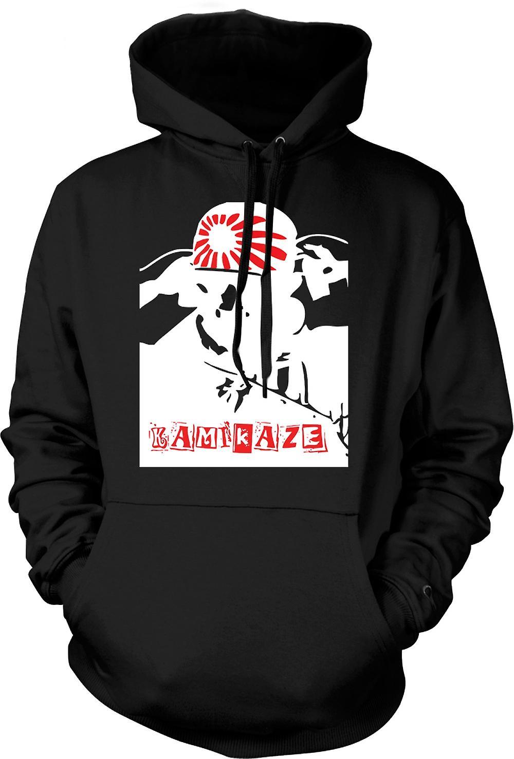 Mens Hoodie - Kamikaze Japanese - WW2 War