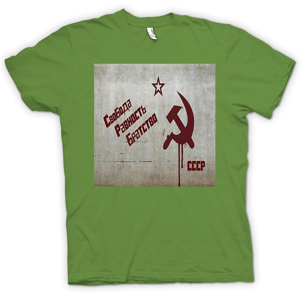Mens t-shirt-Unione Sovietica - Russia - Cool Design