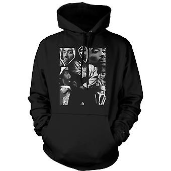 Womens Hoodie - Tupac Collage - Hip Hop