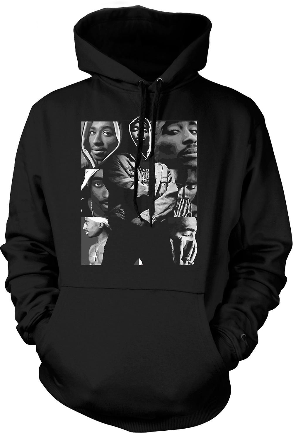 Mens-Hoodie - Tupac Collage - Hip Hop
