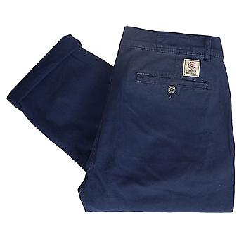 Franklin & Marshall Mf134 Gabardine Slim Fit Stretch Thin Navy Chino