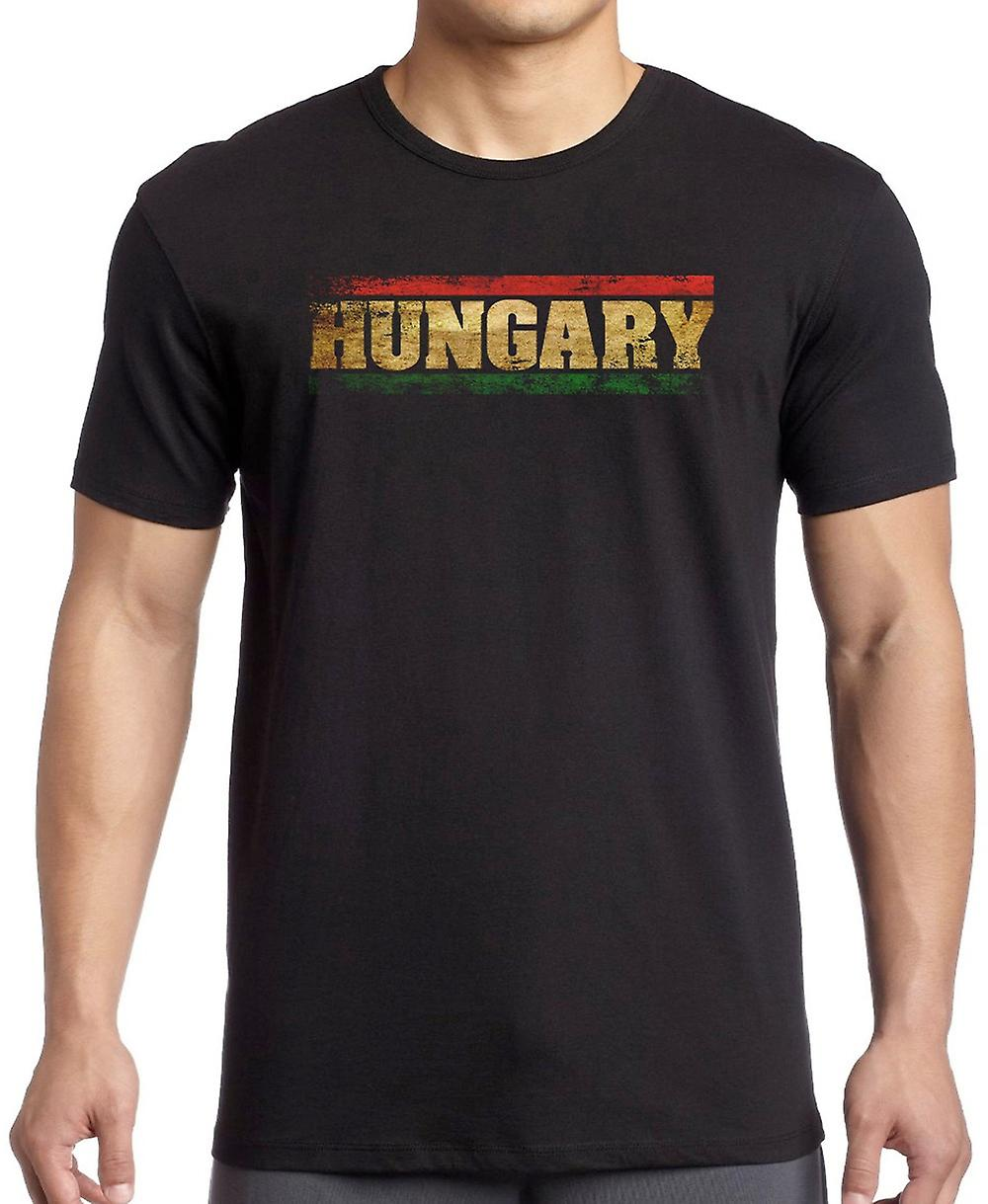 Hungary Hungarian Flag - Words T Shirt