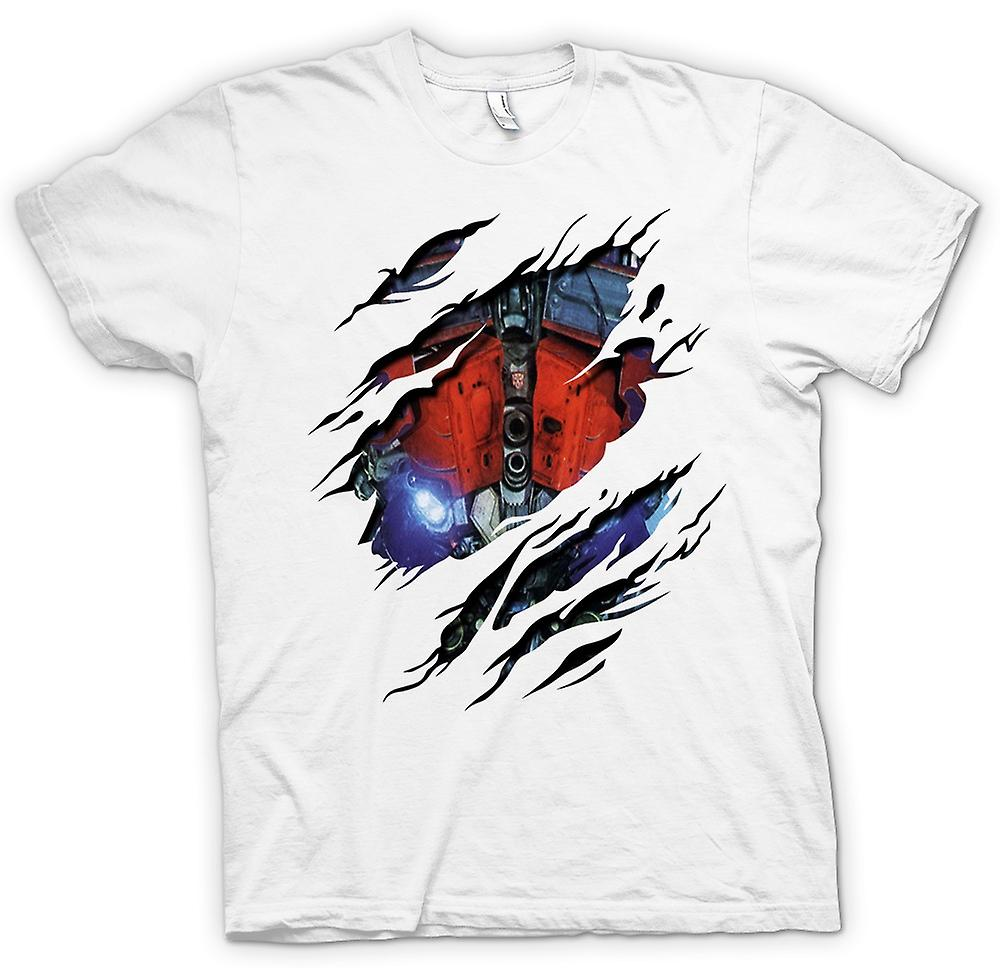 Womens T-shirt - Optimus Prime gerippten Design - Transformatoren inspiriert