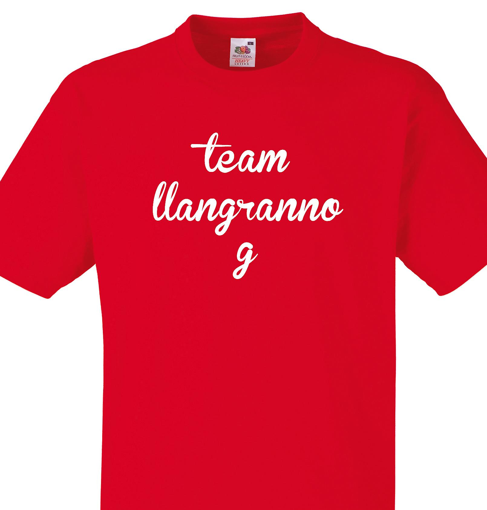 Team Llangrannog Red T shirt