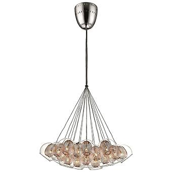 Spring Lighting - Liverpool Chrome And Copper Nineteen Light Pendant  DBOP060DQ19EFDP