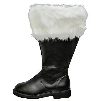 Santa Boot breed kalf bont manchet