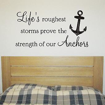Life's Anchors wall quote sticker