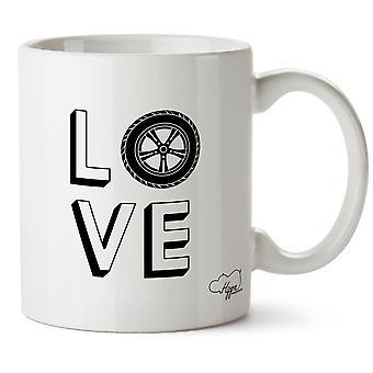 Hippowarehouse kärlek bilar tryckt mugg kopp keramik 10oz