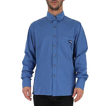 Prada Light Blue Cotton Shirt