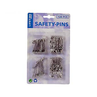 Safety pins 4 Sizes (120-Pack)