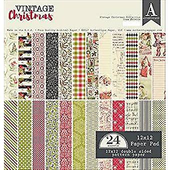 Authentique Paper 12x12 Paper Pad Vintage Christmas (VIN016)