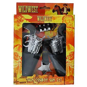 Wild West Twin Cowboy Gun & Holster Set Dress Up