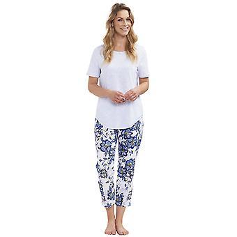 Rosch 1193143-11573 Women's New Romance Indigo Flowers Blue Floral Cotton Pyjama Set