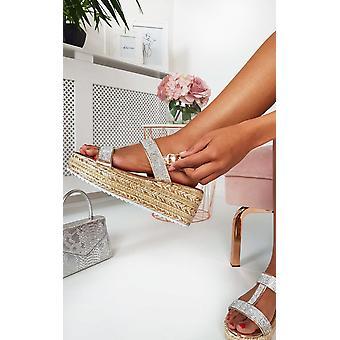 IKRUSH Womens Una Diamante verschönert Wedged Sandalen