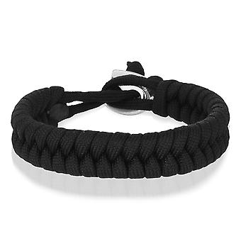Skipper braiding bracelet bracelet bracelet bracelet braided from nylon in black 8003