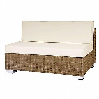 Alexander Rose San Marino Rattan 2 Seater Middle Sofa with Cushions