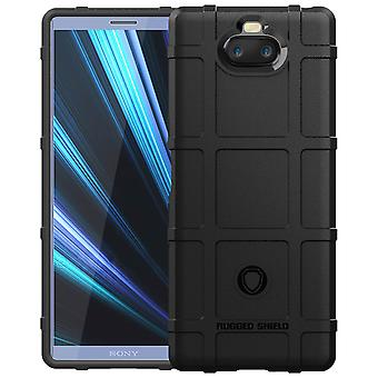 Sony Xperia 10 Reinforced protection Silicone case Textured effect Black