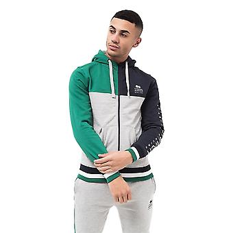 Mens hoodie crosshatch  full zip sweatshirt  hooded jumper top pullover rhame