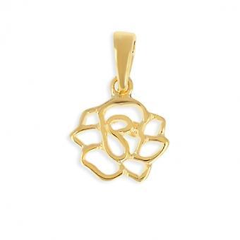 Guld Camelia-pläterad hänge