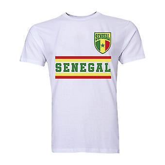 Senegal Core Fußball Land T-Shirt (weiß)