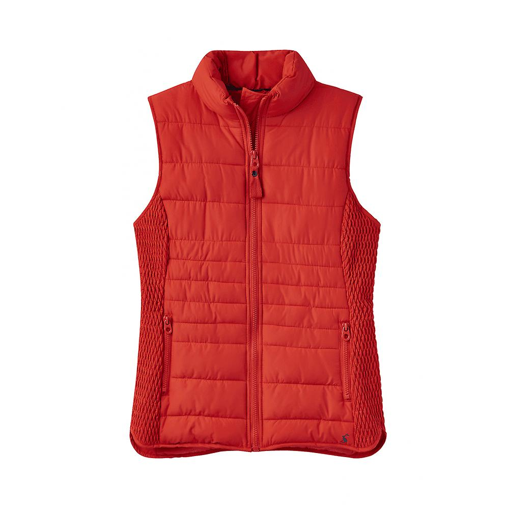 Joules Fallow femmes Padded Gilet With Funnel Neck - rouge