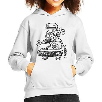 Grimmy Skateboarding Kid's Hooded Sweatshirt