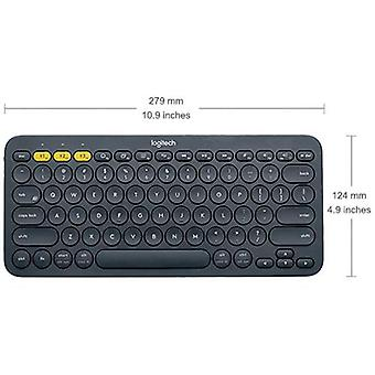 Logitech k380 bluetooth keyboard layout english color grey