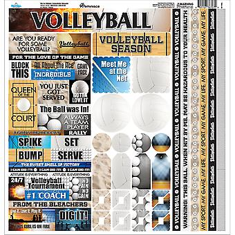 Volley-ball autocollant papier cartonné 12 « X 12 »-TVOC100
